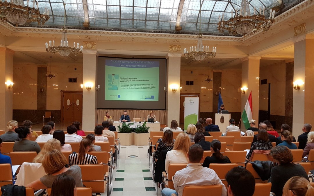 Conference on the applicability of social aspects in public procurement
